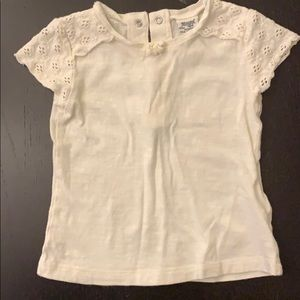 Mayoral Baby Girl white top, 9M